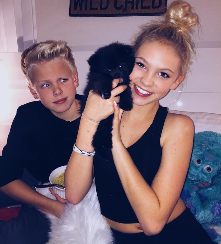 Chillin with Jordyn and my new puppy!~Carson