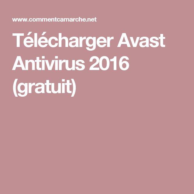 Télécharger Avast Antivirus 2016 (gratuit)