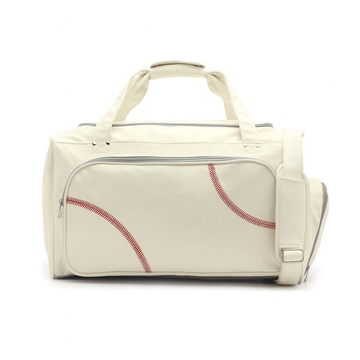 Sport Full Size Duffel Bag Actual Baseball Leather Separate Shoe Compartment #Zumer #DuffleBag