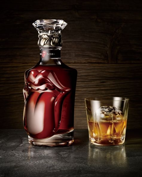 The Rolling Stones 50th anniversary Wiskey bottle by SUNTORY. 700ml, JPY500,000! #Lips & Tongue, #rollingstones #alcohole