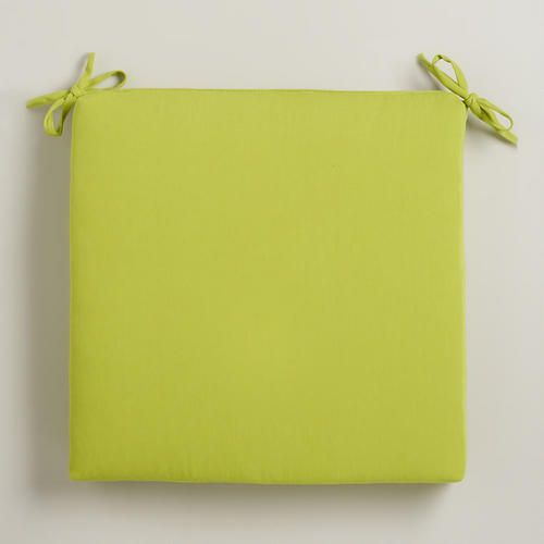 Apple Green Outdoor Chair Pad, worldmarket. seating cushions for bay window bench