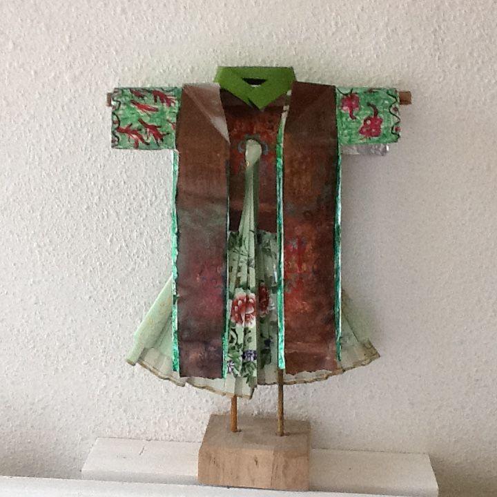 Kimono Sculptuur met waaier (Conny)