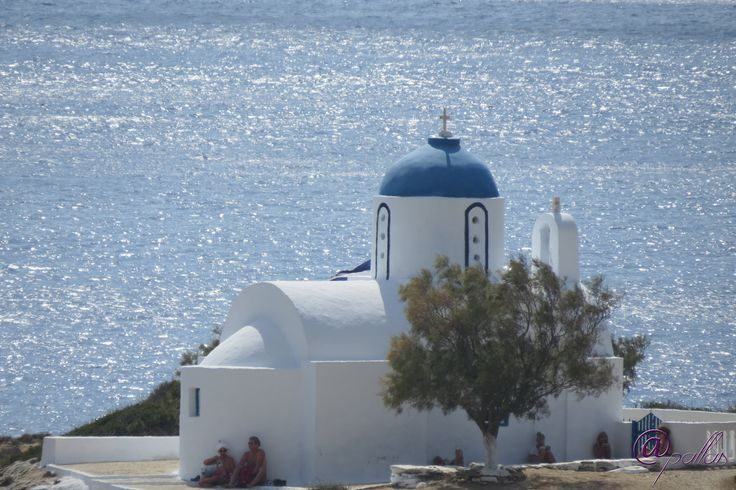 Greece Amorgos Xilikeratidi. Summer in Greek islands. Aegian sea. Greek orthodox church.