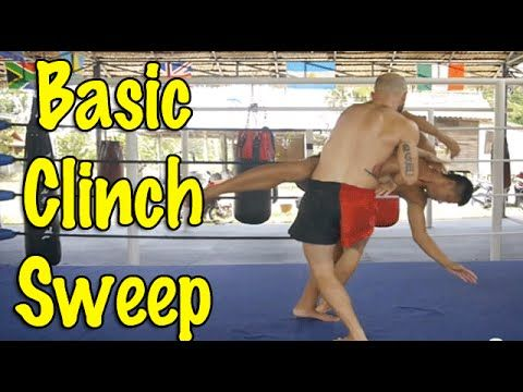 Muay Thai Clinch Techniques - A Basic, Simple Clinch Sweep