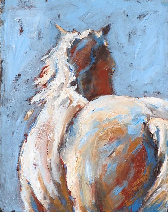 Away Horse Painting - Away Horse Fine Art Print