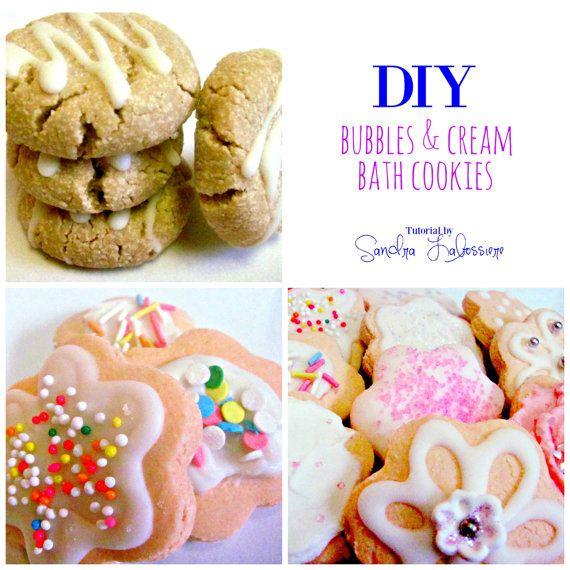 DIY Bubbles & Cream Bath Cookies - Tutorial - Pdf e-Book - Solid Bubble Bath - Bubble Bar