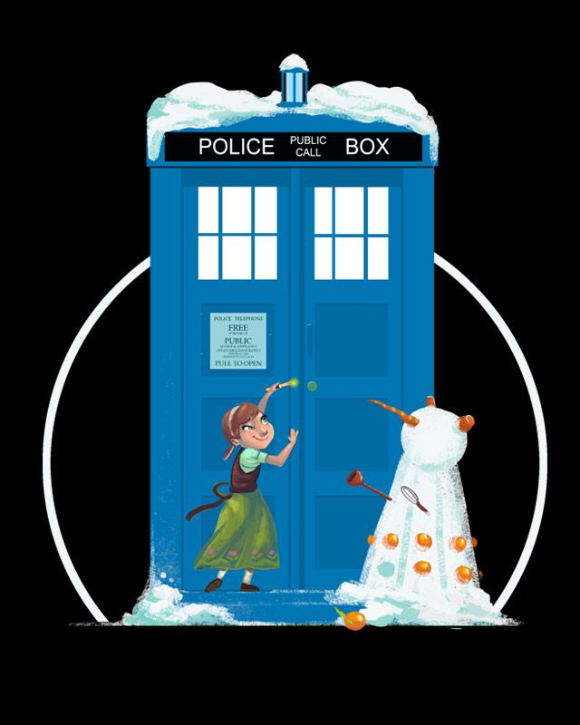 Do you wanna build a Dalek? T-Shirt $11 Doctor Who Frozen mashup tee at Unamee!