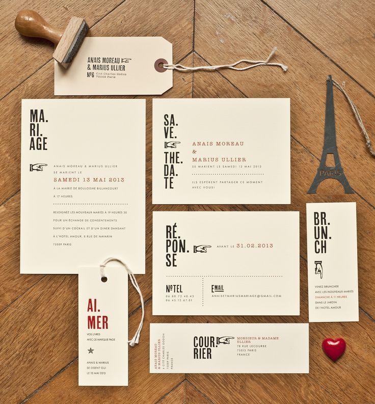 Mister M Studio - Faire part de mariage