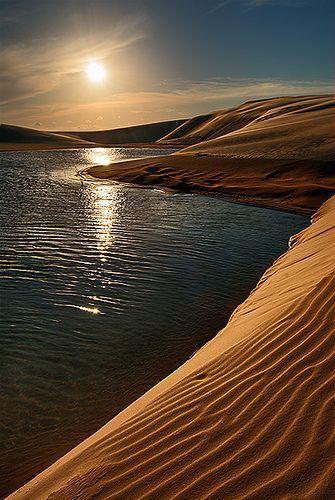 Dunes and lakes at sunset, Santa Catarina, Brazil