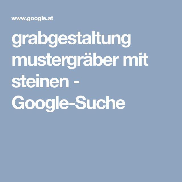grabgestaltung mustergräber mit steinen - Google-Suche