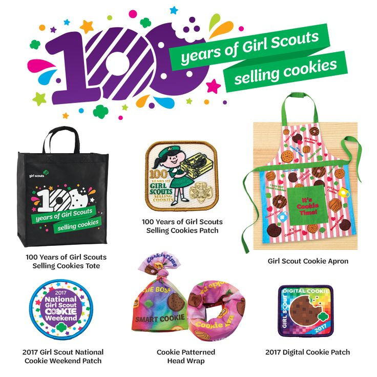 Awesome new items just hit the Girl Scout Shop! Let's celebrate 100 years of Girl Scouts selling cookies!
