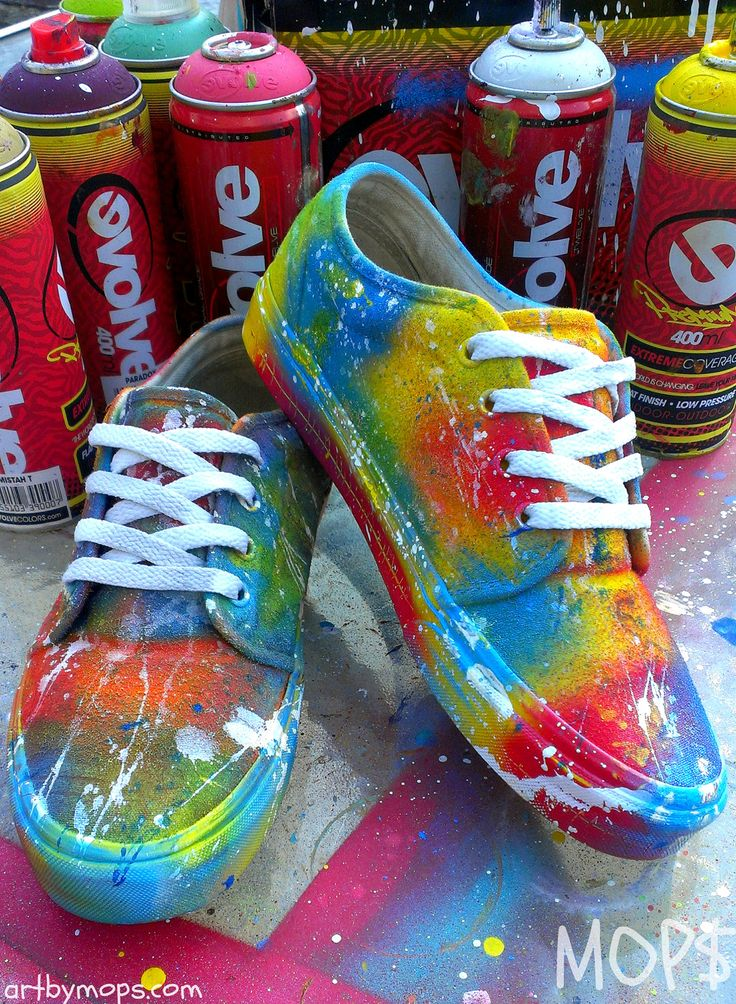 CUSTOM Painted VANS Shoes by MOPS in a Graffiti by AbstractCeleb