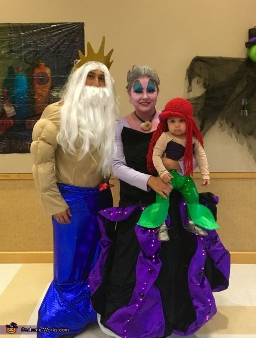 Tabitha: The Lopez family. Dad as King Triton, mom as Ursula. And baby as Ariel.