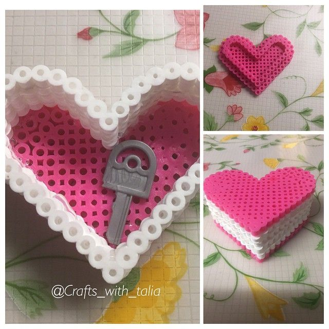 Heart box perler beads by crafts_with_talia