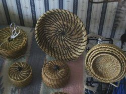 Pine Needle Baskets by Nara White Owl: Nara White, Pine Needle Baskets, White Owls, Began, Pine Needles, Hundreds, Baskets Buckets, Amazing Baskets, Simple Statement