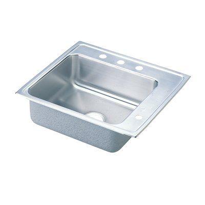 Elkay DRKAD222055L0 Lustertone Double Ledge Classroom Commercial Sink