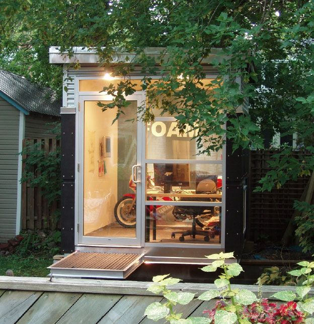 Home Gym In Shed: 1000+ Ideas About Backyard Office On Pinterest