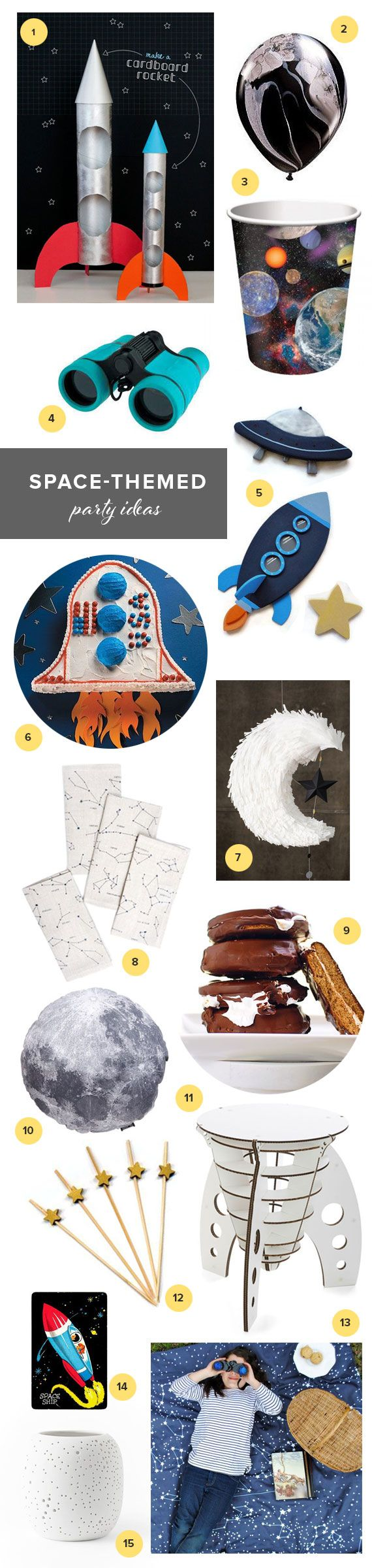 Outer-space party ideas | 100 Layer Cakelet #spacetheme #birthday #party