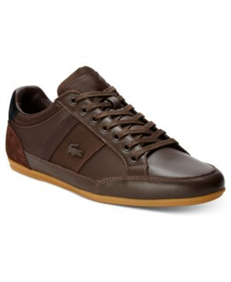 Lacoste Men's Chaymon Sneakers $114.95 Class up your casual style with these mellow canvas sneakers from Lacoste.