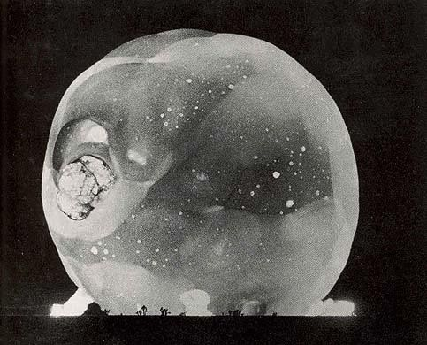 Harold Edgerton: Atomic Bomb detonation. Captured by Rapatronic camera, 1950s.