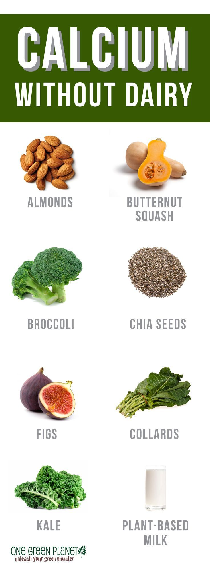 Natural plant based diet: how to get plenty of calcium without dairy. Go Vegan!