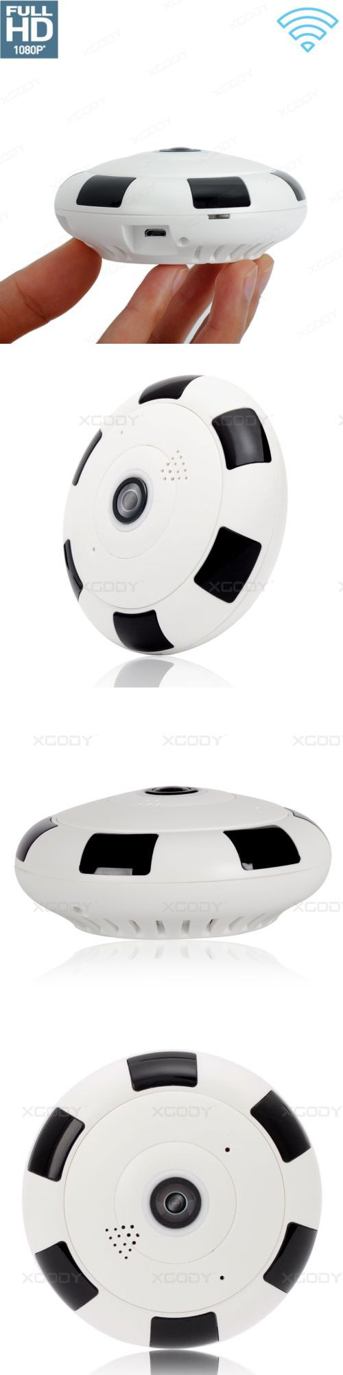Security Cameras: Mini 360 Degree Wireless 1080P Hd Fisheye Ip Camera Two Way Audio Wifi Panoramic -> BUY IT NOW ONLY: $34.55 on eBay!