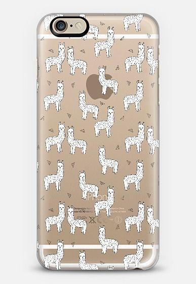 Cute Alpacas - Llamas on Transparent Case by Andrea Lauren iPhone 6 case by Andrea Lauren | Casetify