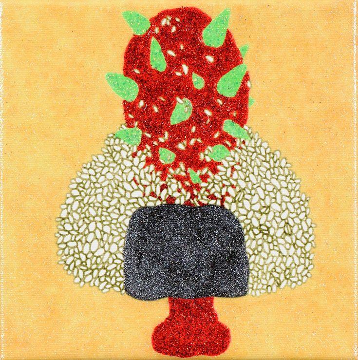 おにぎりに金棒 / Tomoaki TARUTANI #ART #Contemporary ART #POP ART #Mandala #曼荼羅