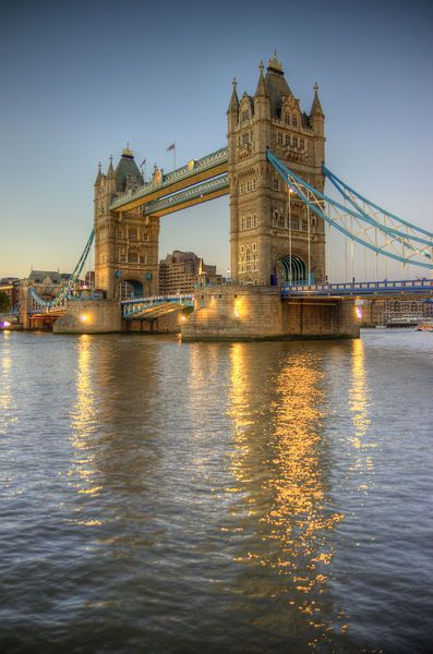 Perhaps the most famous landmark in London, Tower Bridge looks particularly majestic at dusk.
