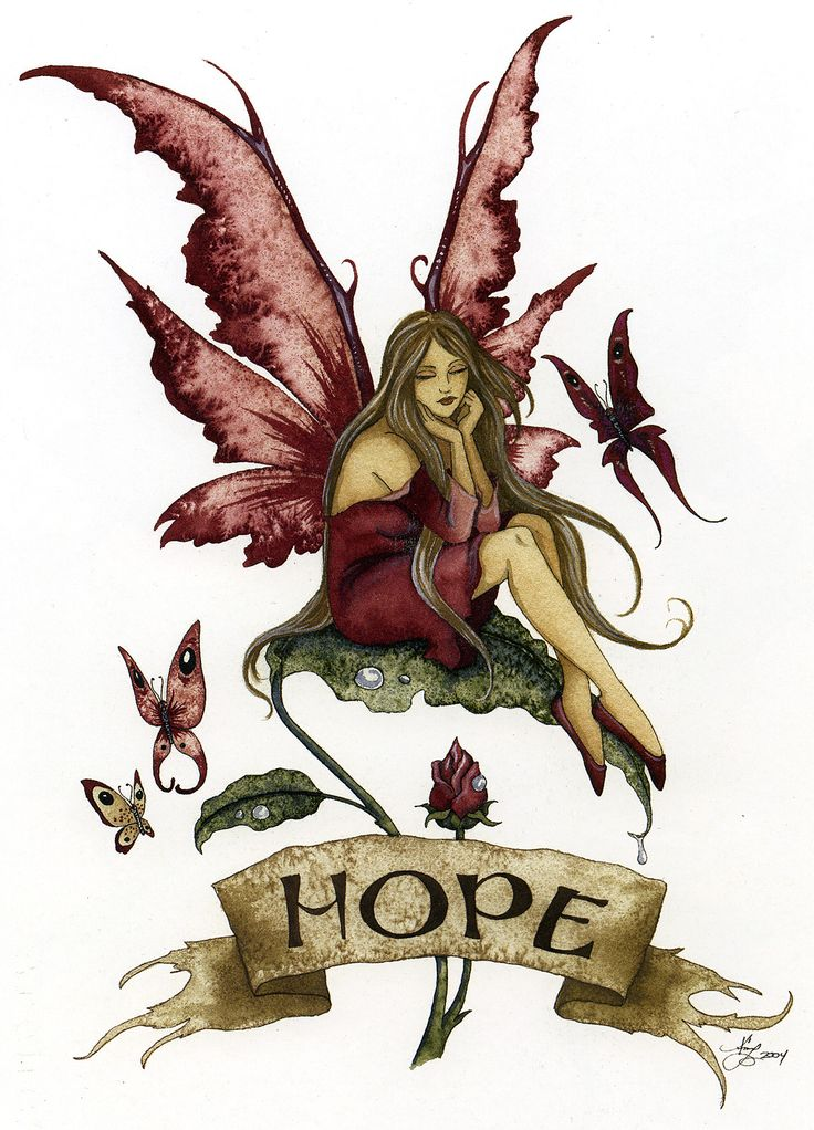 "purple-faerie: "" Hope by Amy Brown """
