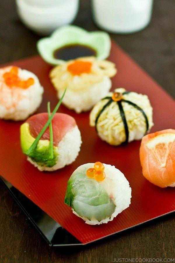 Temari Sushi | Easy Japanese Recipes at JustOneCookbook.com @justonecookbook