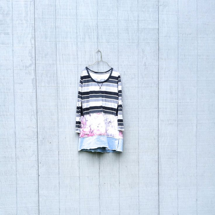 funky fall tunic upcycled sporty clothing Patchwork Dress Eco Dress / Artsy Dress by CreoleSha by CreoleSha on Etsy