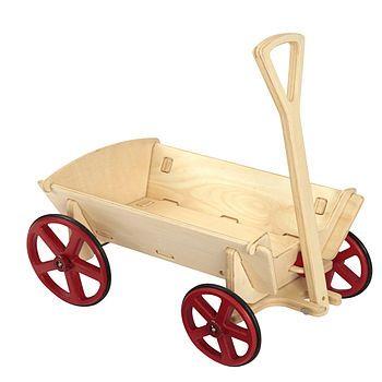 Pull Along Wooden Cart