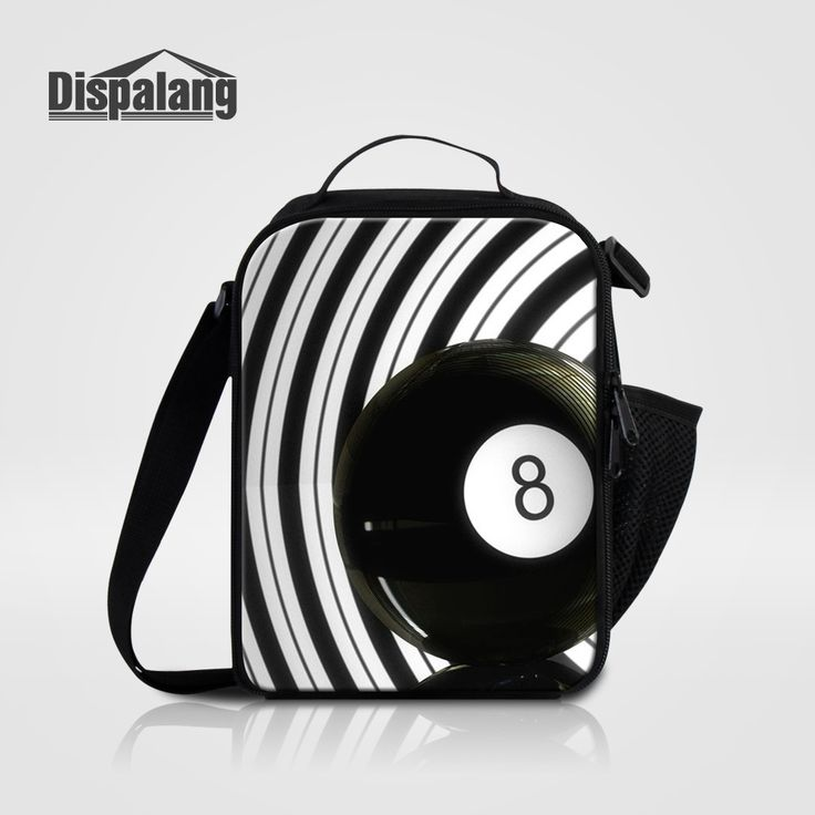 Dispalang Cool Ball Printing Personalized Lunch Bags For Men Work Adults Thermal Insulated Lunch Bag Patterns Multifunction Bags