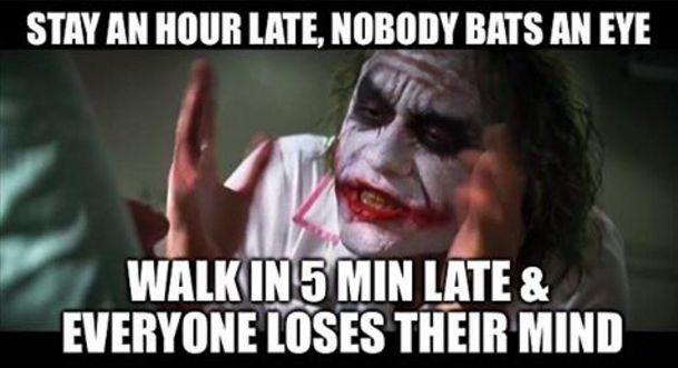 When you hit snooze one more time:   28 Memes Everyone Who Works In An Office Will Understand