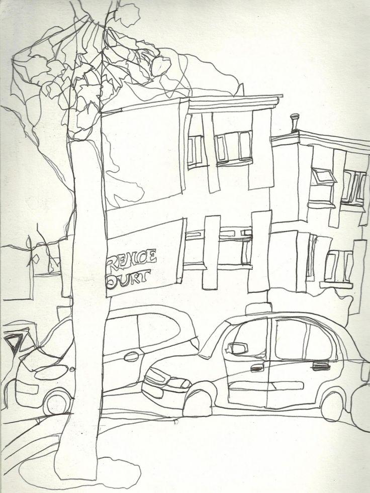 Line Drawing Landscape 1073298732 Continuous Line Drawing Landscape