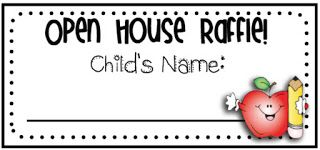 Mrs. Heeren's Happenings: Open House Activities -Raffle - I usually run to Dollar Tree and create a goodie basket of school supplies, fun erasers, etc. for a student to win.  I leave the prize sitting on my desk all day for the kids to ogle at!  When parents attend Open House, they enter their child into the drawing.