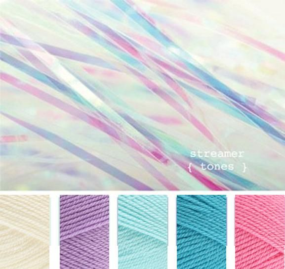 #StylecraftSpecialDK colours   Cream. Wisteria, Sherbet, Turquoise, Fondant
