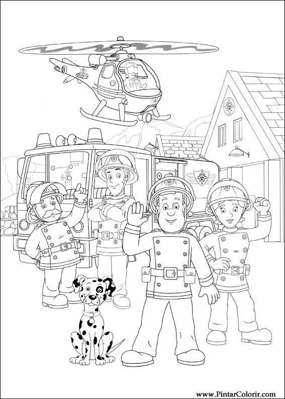drawing fireman sam - Google-søgning                              …