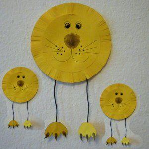 leeuwenkop knutselen met kleuters