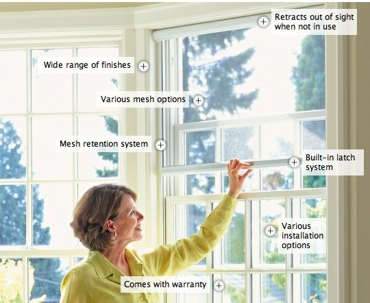 Providing solar shading, enhanced privacy and protection from insects while maintaining views, Serene Window Screens are perfect for most window types. Click on the image to learn more about the features and benefits of our retractable window screen solution.