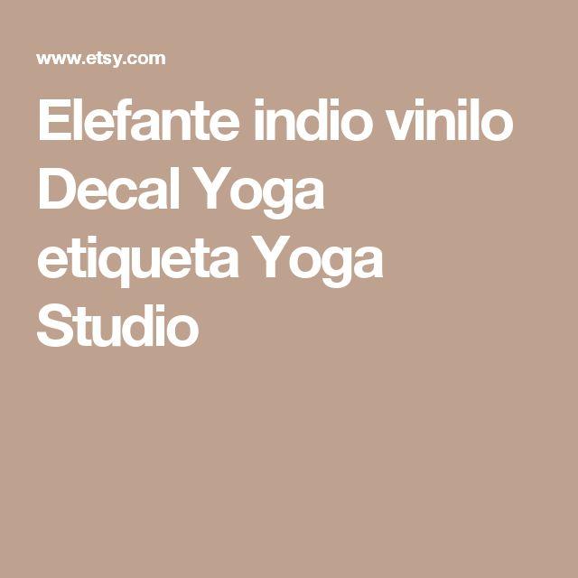Elefante indio vinilo Decal Yoga etiqueta Yoga Studio