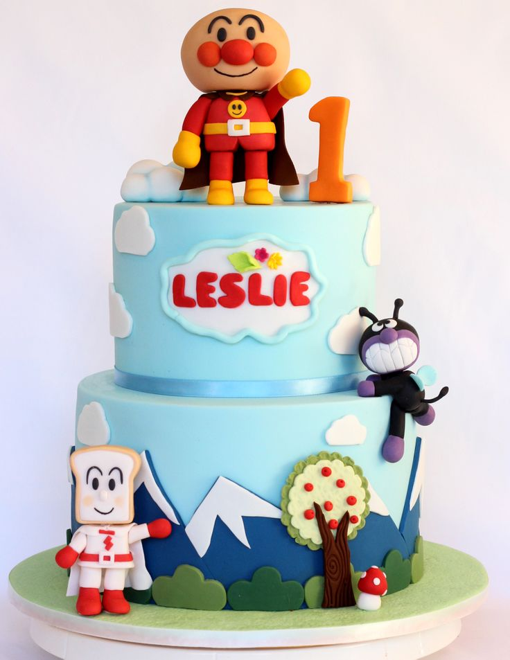 Anpanman Cake, made this for a friend's son's birthday