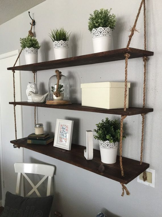 Best 25+ Rope shelves ideas on Pinterest | Hanging furniture ...