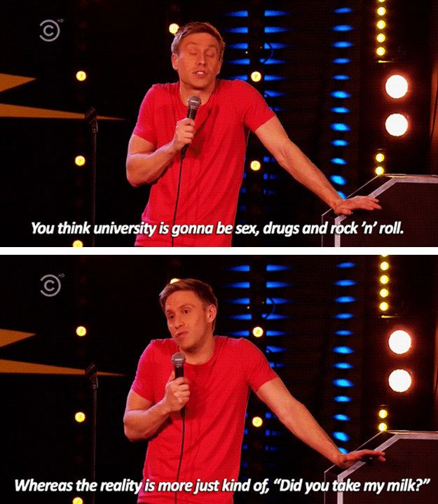 When he perfectly summed up university. | 19 Times Russell Howard Was The Funniest Man In Britain
