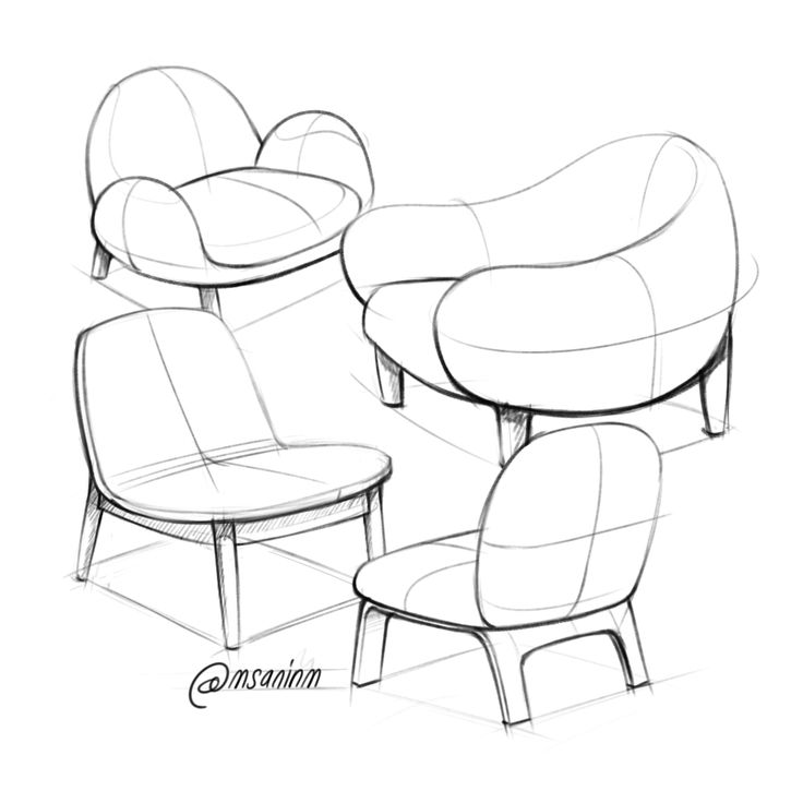 46 best sketch furniture design images on pinterest for Furniture design sketches