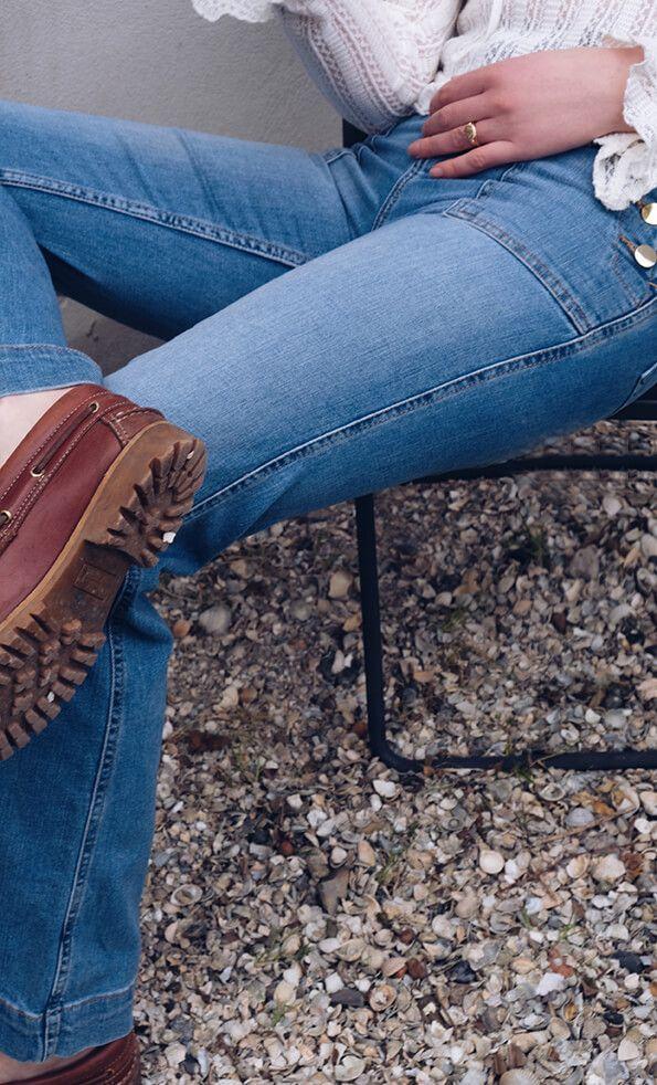 H&M High Waisted  #denim #highwaisted #blogger #bloggerstyle #stone #loafer