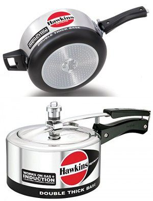 ORIGINAL HAWKINS HEVIBASE 5 LITRE DOUBLE THICK BASE WORKS ON GAS AND INDUCTION PRESSURE COOKER WITH DHL SHIPPING 4-5 DAYS DELIVERY