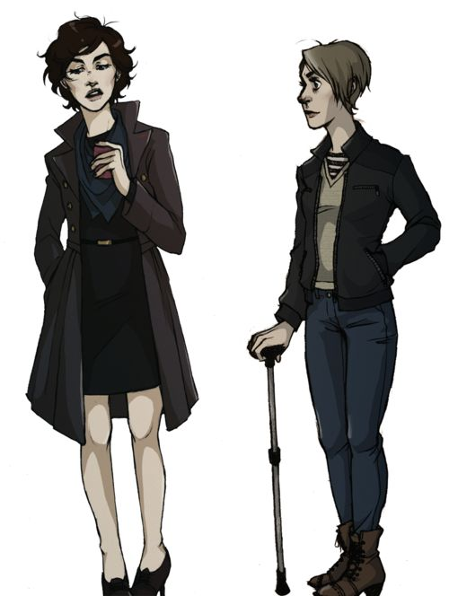 Femlock by winifredsandersn. // I love Femlock art when they have short hair.
