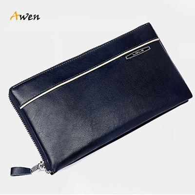 Awen Double Layers Zipper Organizer Wallets 100% Cow Leather Men's Clutch Bags Brand Business Card Holder Coin Purse Long #sheerbliss #bestoftheday  #leatherbag #leather #handemade #leathercraft #fashion